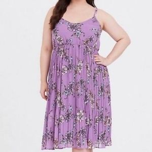 🔥 SMOKN ITorrid Size 3 purple Lovely floral dress